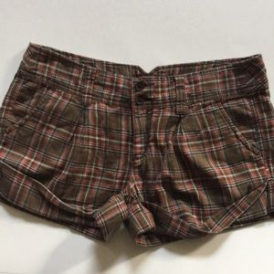 Hollister plaid shorts size 5